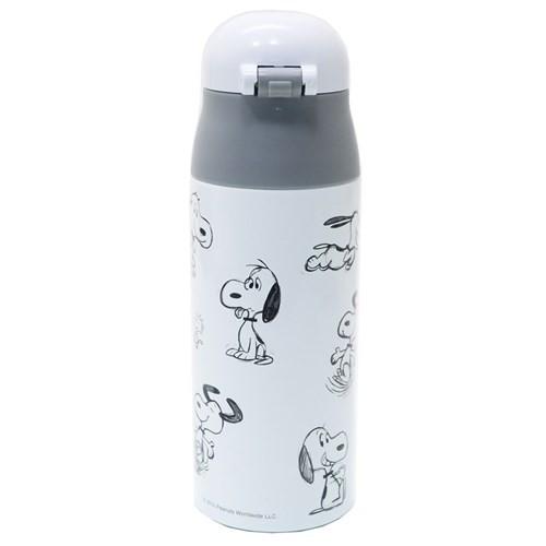 スヌーピー 保温 保冷 水筒 ロック付き ワンプッシュ ステンレスマグボトル スケッチ ピーナッツ 360ml キャラクター グッズ
