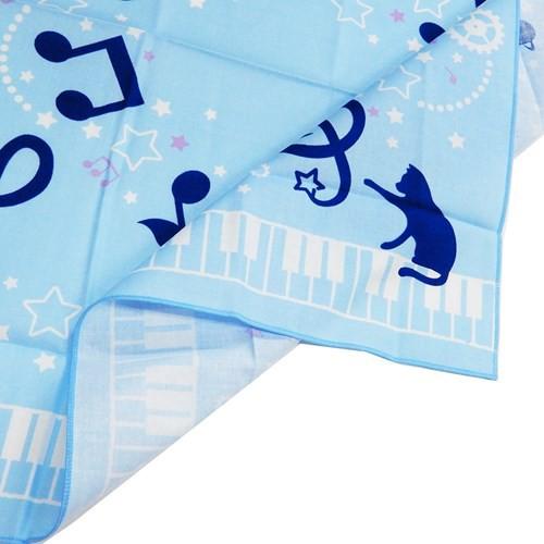 音符 ランチクロス コットンナフキン 2019年新入学雑貨 53×53cm 女の子向け グッズ メール便可
