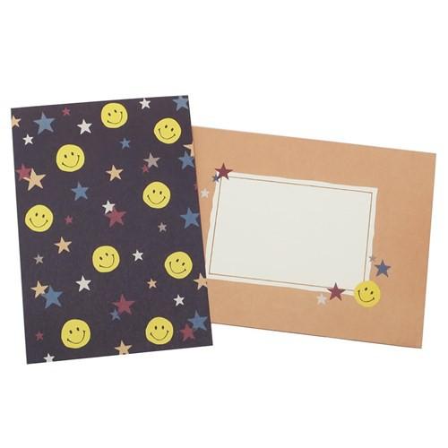 スマイリー 手紙セット レターセット Sparkring Stars Smiley Face 便箋&封筒 キャラクター グッズ メール便可