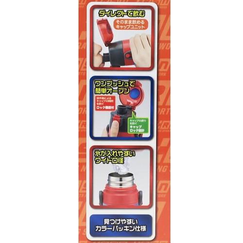 カーズ 保冷専用 水筒 ワンプッシュ ステンレスボトル Cars19 ディズニー 470ml キャラクター グッズ