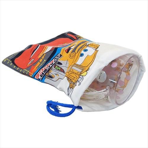 カーズ 巾着袋 歯ブラシホルダー付コップ袋 Cars 19 ディズニー 15×21cm キャラクター グッズ メール便可