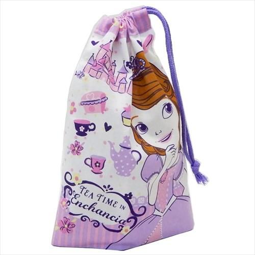 ちいさなプリンセスソフィア 巾着袋 歯ブラシホルダー付コップ袋 Sofia 19 ディズニー 15×21cm キャラクター グッズ メール便可