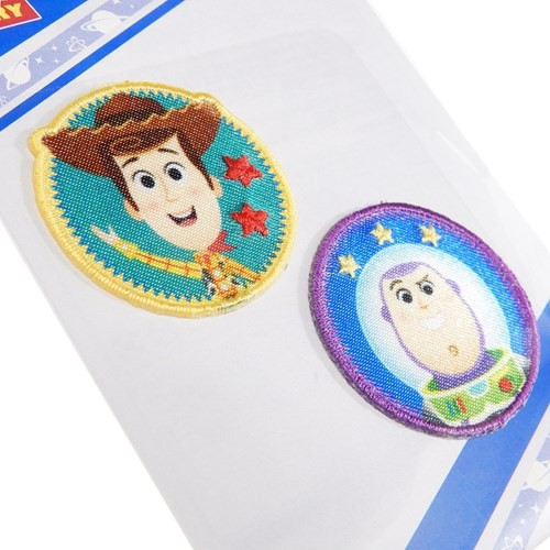 トイストーリー ワッペン ミニ アイロンパッチ 2枚セット バズ&ウッディ ディズニー 手芸用品 キャラクター グッズ メール便可