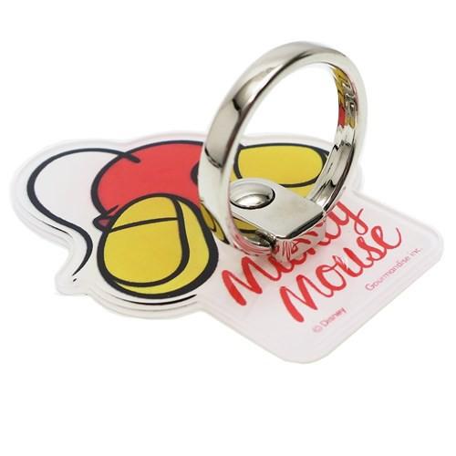 ミッキーマウス スマホアクセ ダイカットマルチリング OSHIRI KAWAII ディズニー スマホリング キャラクター グッズ メール便可