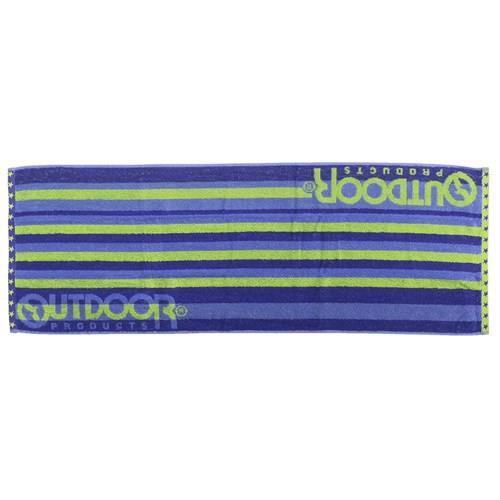 OUTDOOR アウトドアプロダクツ マフラータオル タオルバンド付き ロング フェイスタオル シューティングロゴ 31×90cm
