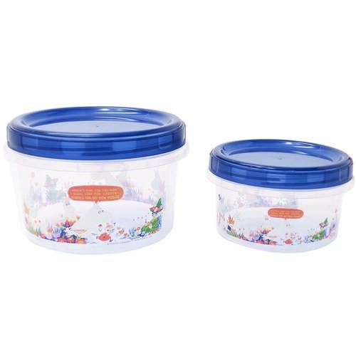 ムーミン 食品保存容器 ラウンドコンテナ 大小 2個セット お花畑 北欧 500ml 250ml キャラクター グッズ