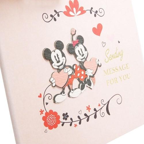 ミッキー&ミニー 色紙 ナチュラルパーツ付き メッセージボード SC-206 ディズニー 寄せ書き キャラクター グッズ メール便可