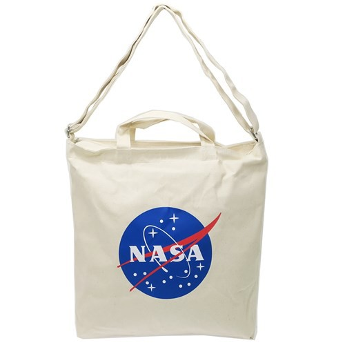 NASA ショルダーバッグ シルクプリント トートバッグ ミートボール ロゴ 宇宙 2WAY 斜め掛け かばん ファッション グッズ