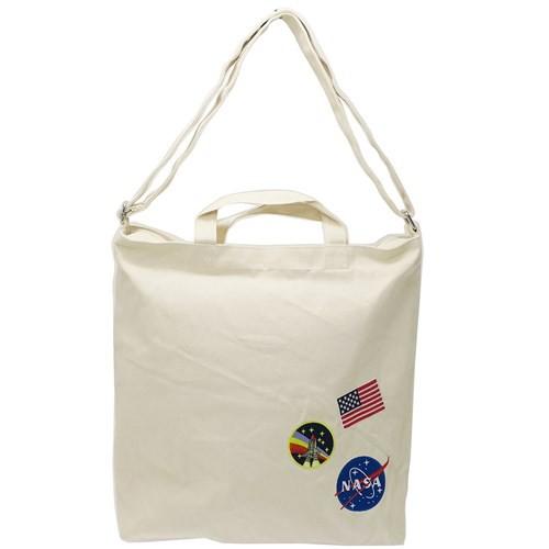 NASA ショルダーバッグ 刺繍 ワッペン トートバッグ ミートボール ワッペン 宇宙 2WAY 斜め掛け かばん ファッション グッズ