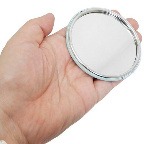 ぐでたま ゴマちゃん 手鏡 ラウンド 缶ミラー じーっ サンリオ コスメ キャラクター グッズ メール便可
