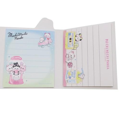 もちもちぱんだ メモ帳 パタパタメモ カラーテーマ ピンク 新学期準備雑貨 キャラクター グッズ メール便可