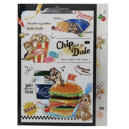 チップ & デール ファイル ダイカット 5インデックス A4 クリアファイル ジャンクフード ディズニー 新学期準備雑貨 メール便可