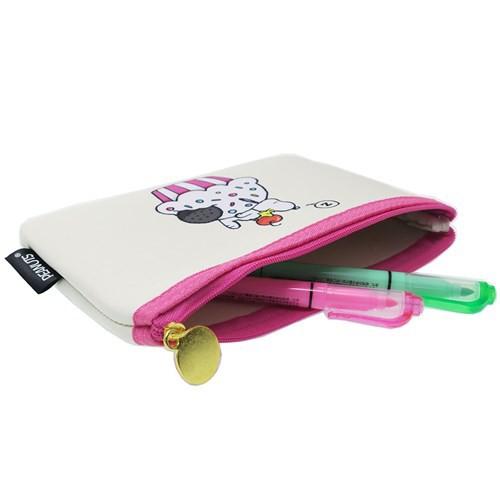 スヌーピー 筆箱 フラット ペンケース プレイウィズカラーズ CR ピーナッツ 18×12×1cm キャラクター グッズ メール便可