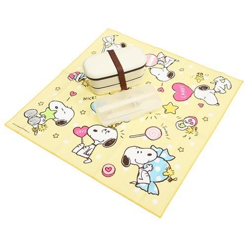 スヌーピー ランチクロス コットンナフキン キャンディ ピーナッツ 43×45cm キャラクター グッズ メール便可