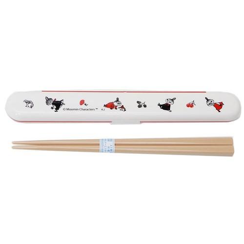 ムーミン お箸セット 18cm おはし & 箸ケース リトルミイ きのこ 北欧 ランチ雑貨 キャラクター グッズ