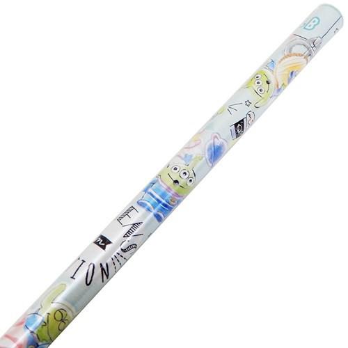 トイストーリー 鉛筆 丸軸 えんぴつ 2B エイリアン ディズニー 新学期準備雑貨 キャラクター グッズ メール便可
