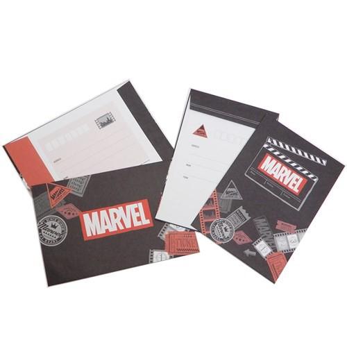 MARVEL レターセット 手紙セット ロードショー マーベル 便箋 封筒 キャラクター グッズ メール便可