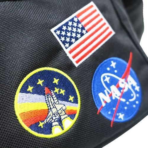 ショルダーバッグ スクエア ミニショルダー NASA ワッペン 25×20×9cm キャラクター グッズ