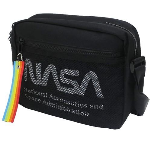ショルダーバッグ スクエア ミニショルダー NASA ロゴ 25×20×9cm キャラクター グッズ