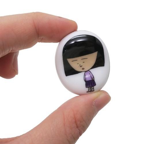 ちびまる子ちゃん 豆箸置き 陶磁器製 チョップスティックレスト 野口さん かわいい アニメキャラクター グッズ メール便可