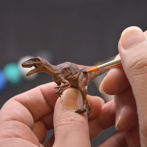 フクイダイナソー ペイントザダイナソー 彩色 ミニフィギュア 5体キット 恐竜 自由研究 キャラクター グッズ