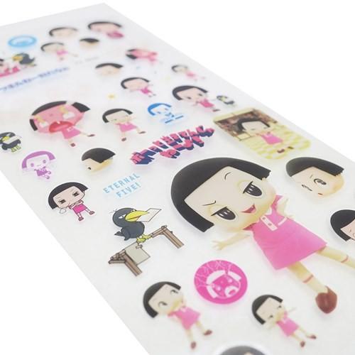 チコちゃんに叱られる デコ ステッカー クリアシール2 Bタイプ NHK 手帳DECO キャラクター グッズ メール便可
