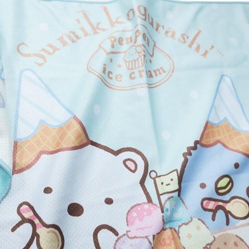 すみっコぐらし ひんやり 夏用 タオル クール マフラータオル アイスクリームパーティ サンエックス 30×100cm メール便可