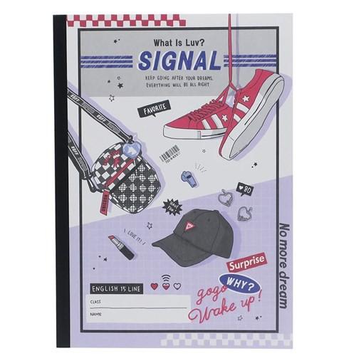 英語ノート LUV SIGNAL B5 英習帳 15段 新学期準備雑貨 かわいい グッズ メール便可