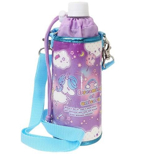 ペットボトルホルダー ユニコーン 保冷 ボトルケース ショルダーストラップ付き 女の子向け グッズ