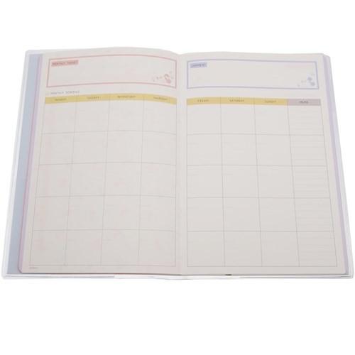 ミッキーマウス スケジュール ノート スタディ プランナー 3か月分 ディズニー 勉強用手帳 キャラクター グッズ メール便可