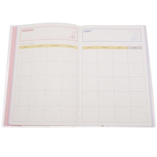 ムーミン スケジュール ノート スタディ プランナー 3か月分 リトルミイ 北欧 勉強用手帳 キャラクター グッズ メール便可