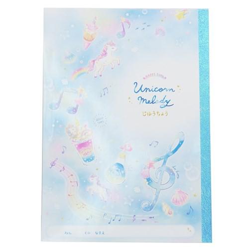 自由帳 B5 白無地 ノート UNICORN MELODY 2019SS かわいい お絵かきノート グッズ メール便可