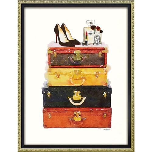 アマンダ グリーンウッド パネル ブランド キャンバスアート メイクアップ ラゲッジ(Mサイズ) 取寄品 送料無料