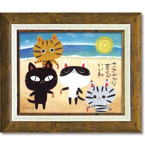 糸井忠晴 メッセージアート アート フレーム 海の幸 40x34cm インテリア グッズ 取寄品 送料無料