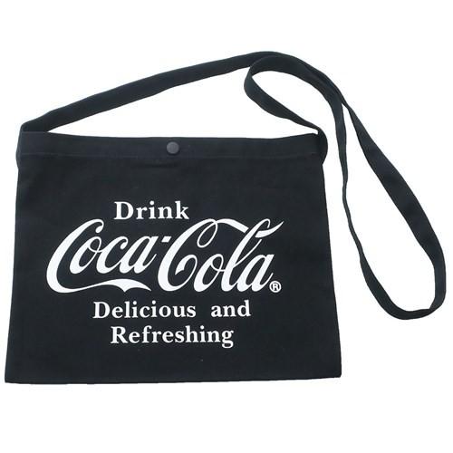 コカコーラ ショルダーバッグ キャンバス サコッシュ Coca-Cola 30×23cm キャラクター グッズ