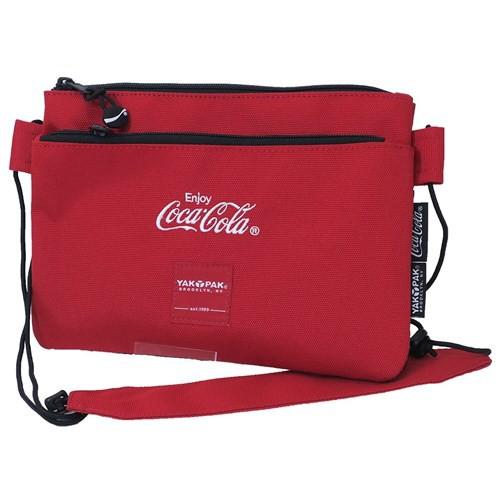 コカコーラ × YAKPAK ショルダーバッグ サコッシュ CocaCola 25.5×18×1.5cm キャラクター グッズ
