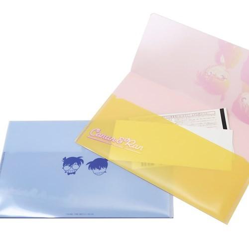 名探偵コナン ミニファイル W チケットホルダー コナン&安室 21.6×13.4cm アニメキャラクター グッズ メール便可