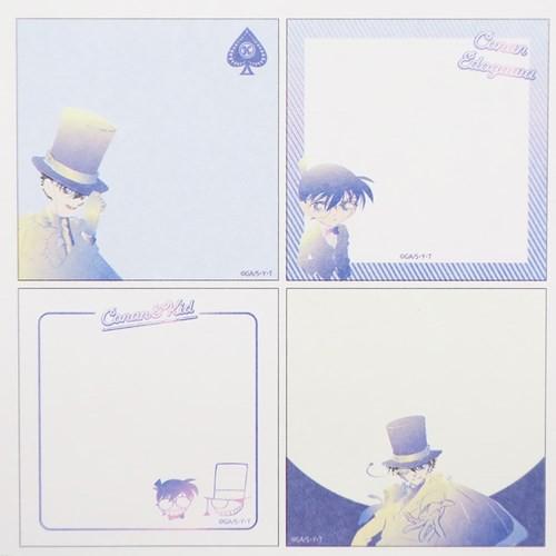 名探偵コナン メモ帳 スクエア メモ コナン & キッド 4柄100枚綴り アニメキャラクター グッズ メール便可