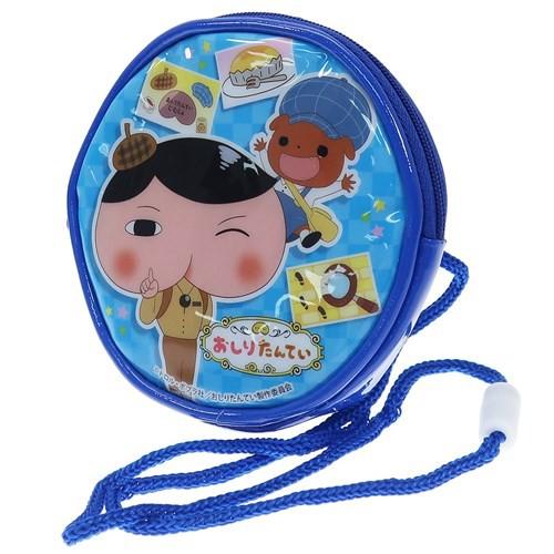 おしりたんてい キッズ ポシェット ラウンド ネックポーチ ブルー NHK 子供用かばん キャラクター グッズ