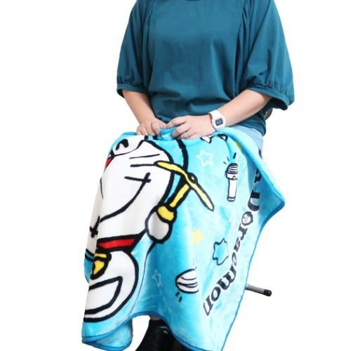 ドラえもん マイヤー ブランケット ひざ掛け毛布 アップ サンリオ 70×100cm アニメキャラクター グッズ