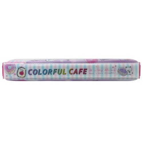 子供用 筆箱 両面開き ペンケース COLORFUL CAFE 女の子向け 2020年 新入学新学期準備 ガールズステーショナリー グッズ