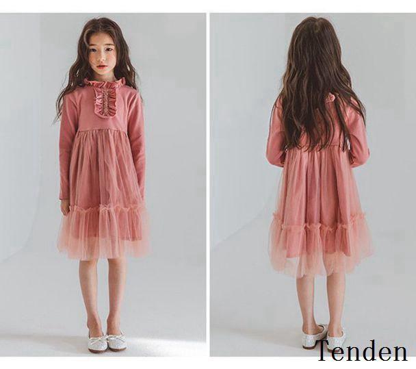 5cb3c211737e8 韓国子供服 女の子 ワンピース 綿ワンピース 学生服 ファッション感 ハイ ...