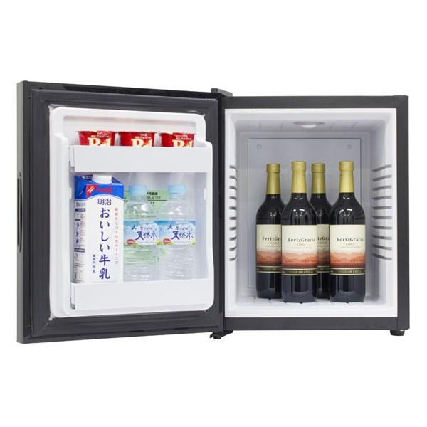 冷蔵庫ミラー扉ワンドアペルチェ式32Lエーステージ子供部屋寝室両開き1ドアミラーガラス冷蔵庫32LブラックA-Stage