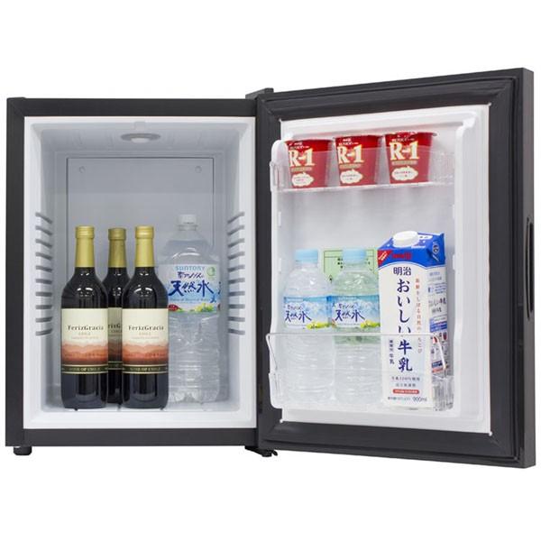 冷蔵庫ミラー扉ワンドアペルチェ式40Lエーステージ子供部屋寝室両開き1ドアミラーガラス冷蔵庫40LブラックA-Stage