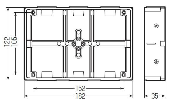 埋込スイッチボックス (極薄型) プラスチック製セーリスボックス