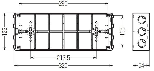 埋込スイッチボックス (塗代無) プラスチック製セーリスボックス