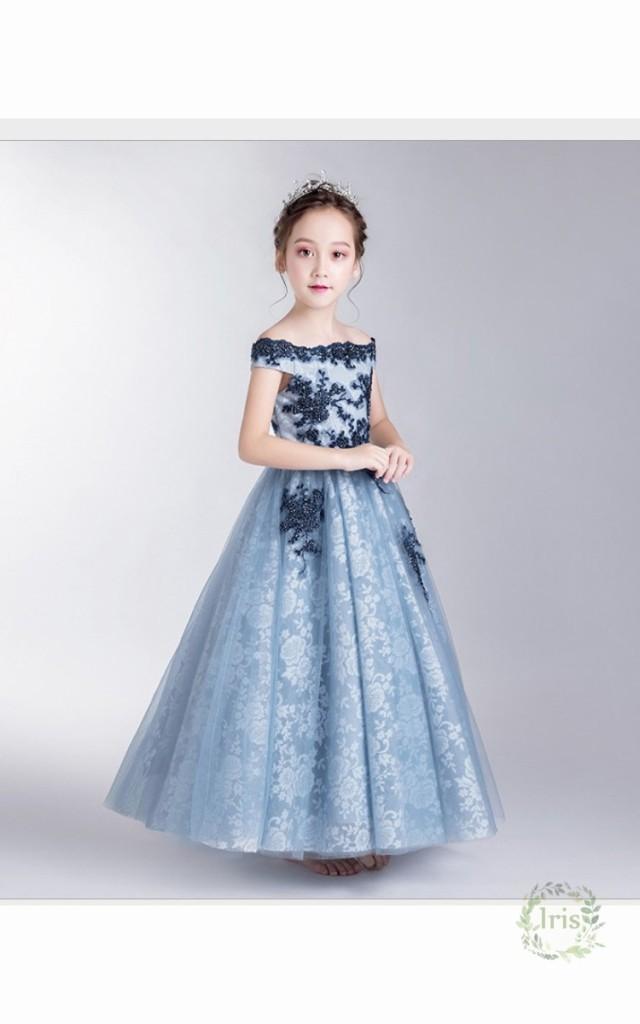 c5adb1b3efa 子供ドレス ロング ピアノ発表会 チュール ワンピース 子どもドレス フォーマル 七五三 ジュニアドレス ピンク シャンペン グリーン  素材:ポリエステル