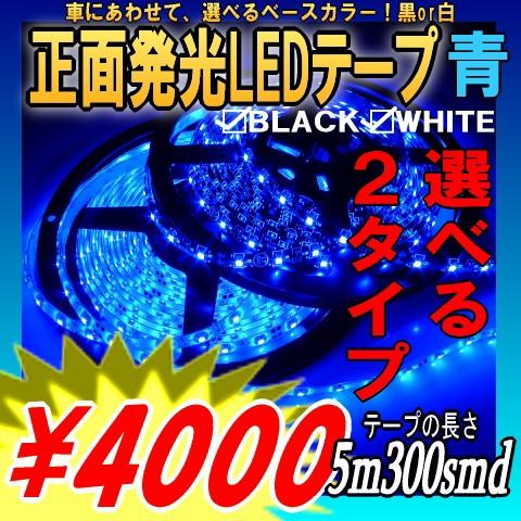 正面発光LEDテープライト5M青