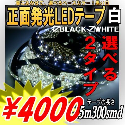 正面発光LEDテープライト5M白