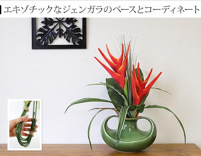バリ島 造花 赤い花